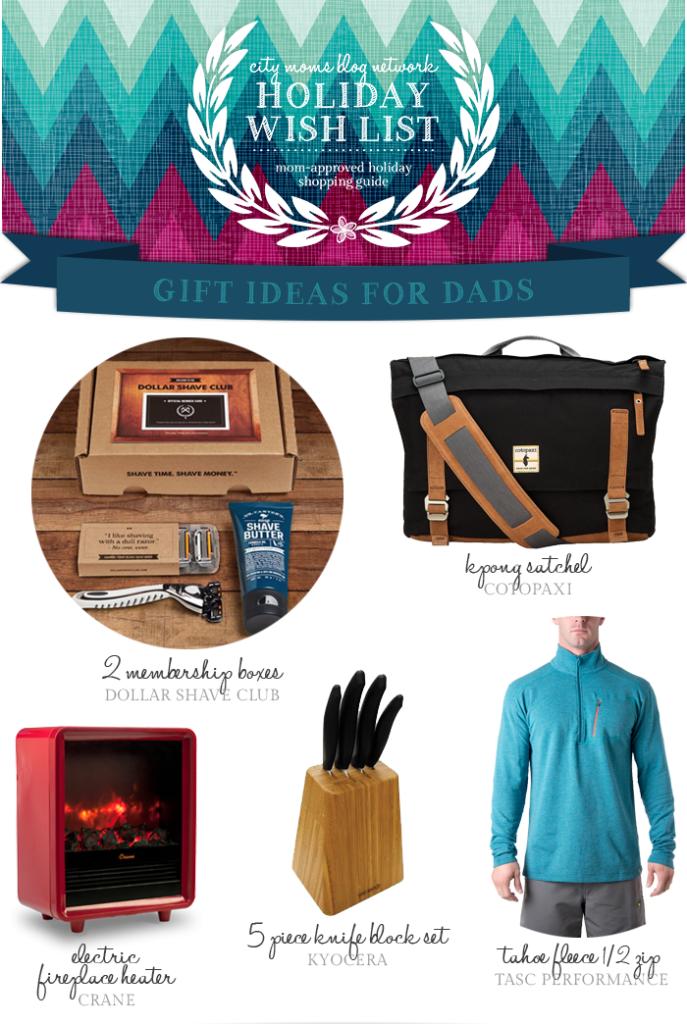 Gift Guide for Dads, Men #CMBNWishList2014 - City Moms Blog Network