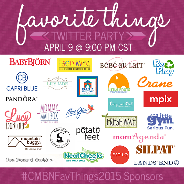 City Moms Blog Network Favorite Things 2015 Twitter Party