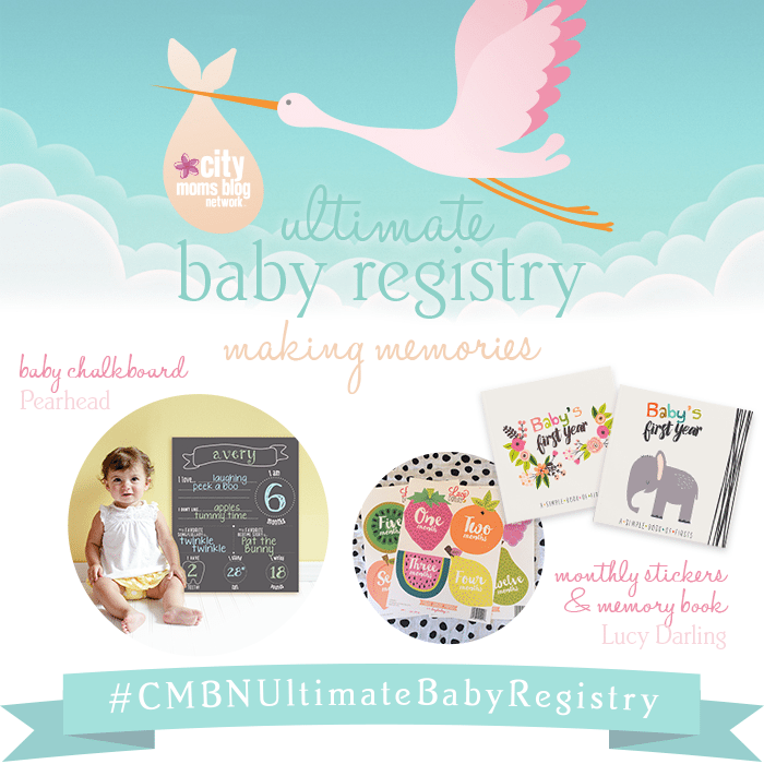 #CMBNUltimateBabyRegistry - Baby Gift Registry 2015 - Gift Ideas for babies - monthly stickers and baby books