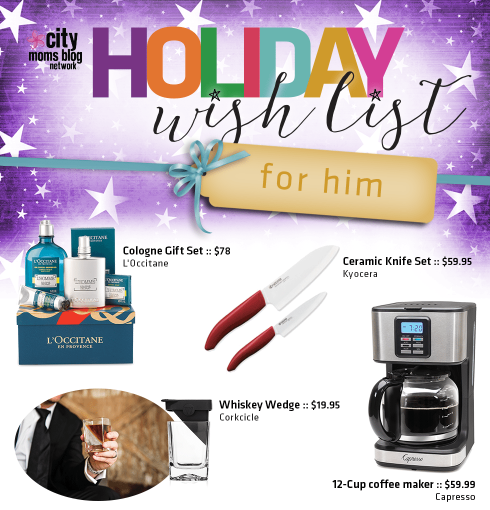 2016 Gift Guide For Him - City Moms Blog Network Holiday Wish List