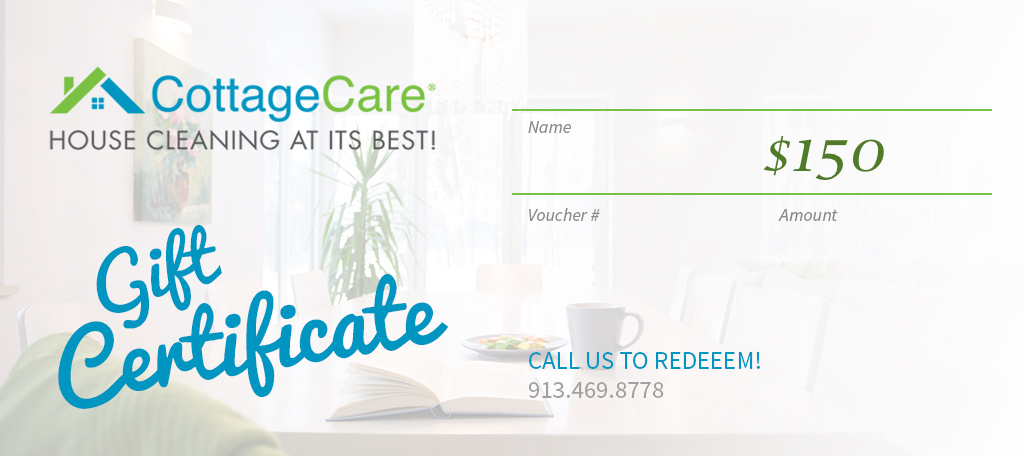 Cottagecare House Cleaning Gift Card