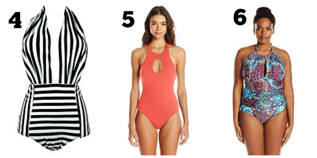 16aeec0377bca9 Cocoship Retro One-Piece Backless Bather Swimsuit High Waisted Pin Up  Swimwear (FBA) ::