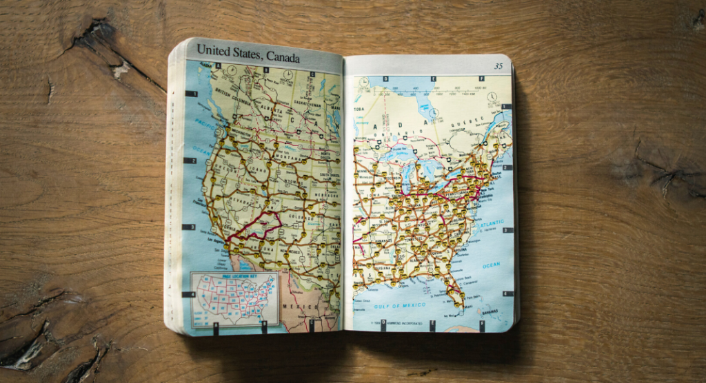 Family Road Trip - Map